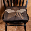 Farmhouse Star Patchwork Chair Pad