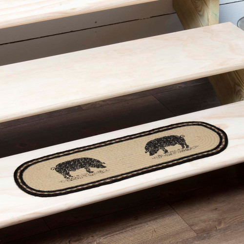 Sawyer Mill Pig Jute Stair Tread Oval