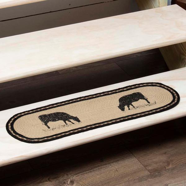 Sawyer Mill Cow Jute Stair Tread Oval