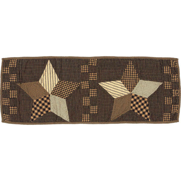 Farmhouse Star Quilted Table Runner