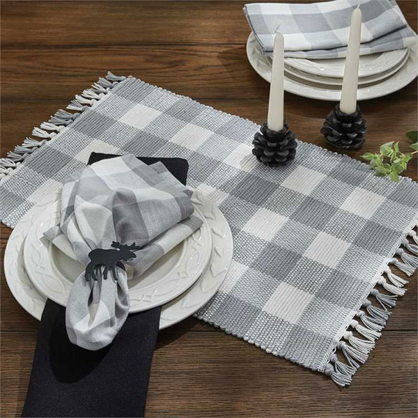 Wicklow Yarn Placemat Set - Dove