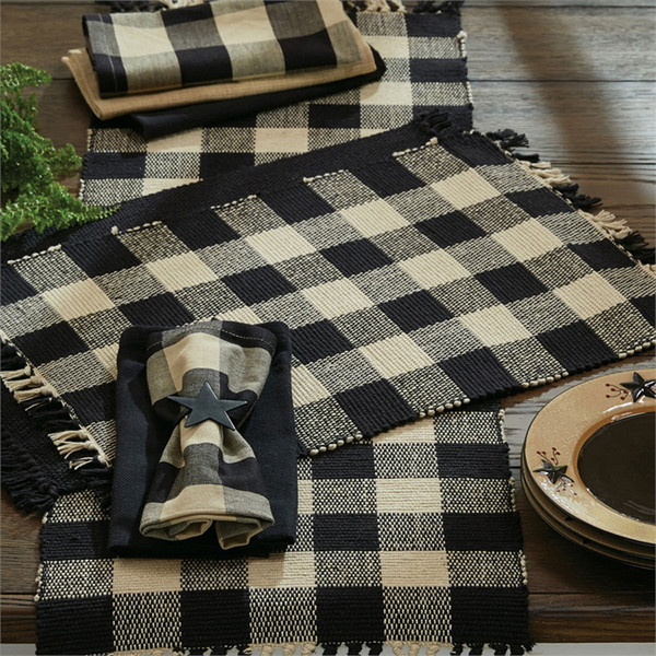 Wicklow Yarn Placemat Set - Black