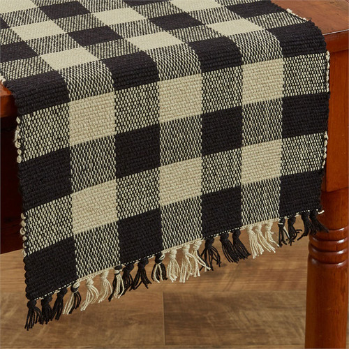 Wicklow Yarn Table Runner - Black