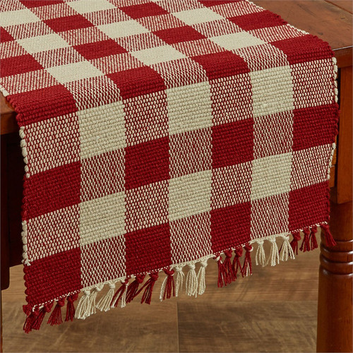 Wicklow Yarn Table Runner - Garnet Red