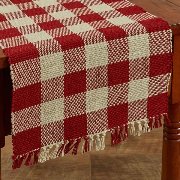 Wicklow Yarn Table Runner - Garnet Red
