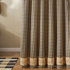 Berry Gingham Shower Curtain