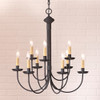 9-Arm Grandview Chandelier - Ecru Sleeves