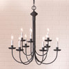 9-Arm Grandview Chandelier - Gray Sleeves