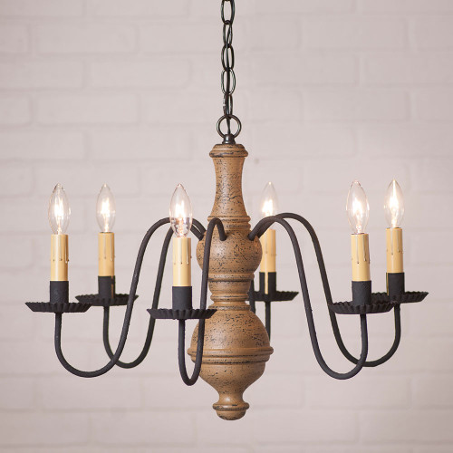 Medium Chesterfield Chandelier - Pearwood
