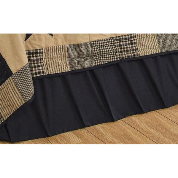Solid Black Bed Skirt by Olivia's Heartland