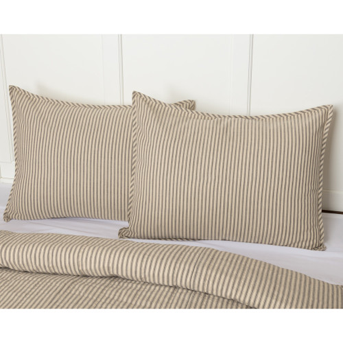 Sawyer Mill Ticking Stripe Quilted Sham