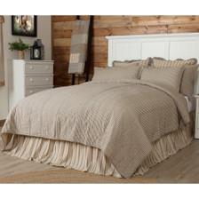 Sawyer Mill Ticking Stripe King Quilt Coverlet