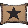 Black Check Star Standard Quilted Sham