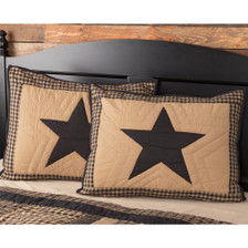 Black Check Star Quilted Sham