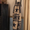 Black Check Star Quilted Throw