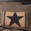"Black Check Star Patch Pillow 14"" x 22"""
