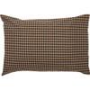 Black Check Star Pillowcase Set - Reverse