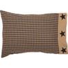 Black Check Star Pillowcase Set