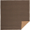 Black Check Luxury King Quilt Coverlet
