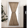 Sawyer Mill Charcoal Plaid Door Panel Curtain
