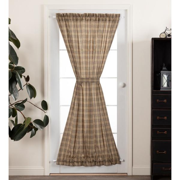 Sawyer Mill Charcoal Plaid Door Panel Curtain