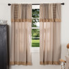Sawyer Mill Short Panel w/attached Patchwork Valance