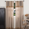 Sawyer Mill Panel Set w/attached Patchwork Valance