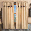 Kettle Grove Short Panel w/attached Applique Crow and Star Valance