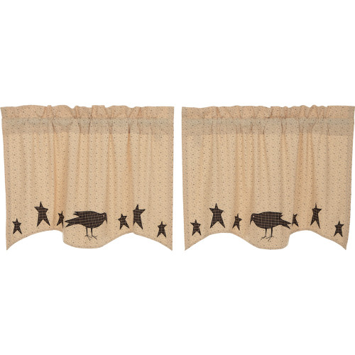 Kettle Grove Applique Crow and Star Tier Set