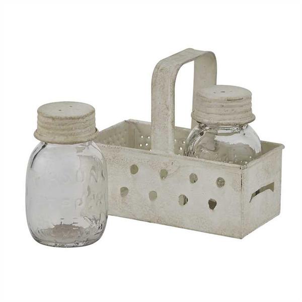 Grater Caddy with Mason Jar Salt & Pepper Set