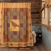 Heritage Farms Applique Crow and Star Shower Curtain