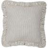 """Hatteras Seersucker Blue Ticking Stripe Pillow 12"""" x 12"""""""
