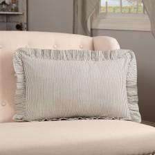"""Hatteras Seersucker Blue Ticking Stripe Pillow 14"""" x 22"""""""
