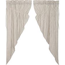 Hatteras Seersucker Blue Prairie Curtain Set