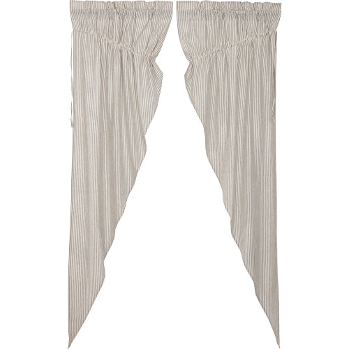 Hatteras Seersucker Blue Long Prairie Curtain Set