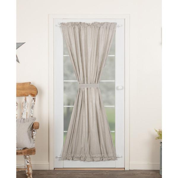 Hatteras Seersucker Blue Door Panel Curtain