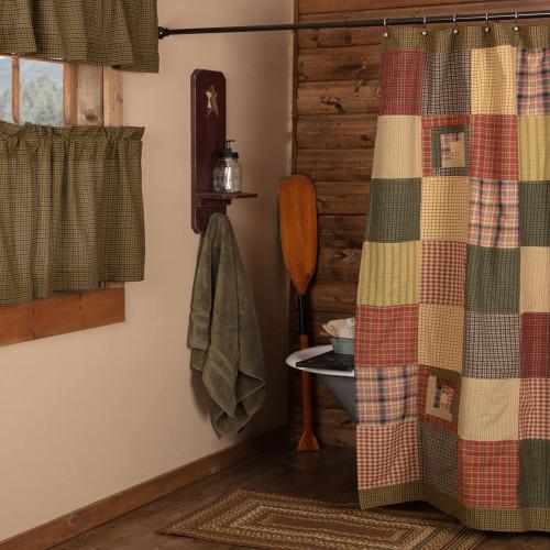 Tea Cabin Patchwork Shower Curtain