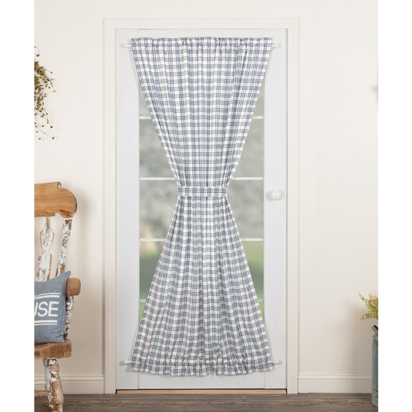 Sawyer Mill Blue Plaid Door Panel Curtain
