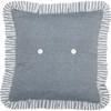 """Sawyer Mill Blue Barn Star Pillow 18"""" x 18"""" - Reverse"""