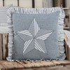"Sawyer Mill Blue Barn Star Pillow 18"" x 18"""