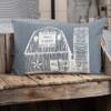 """Sawyer Mill Blue Barn Pillow 14"""" x 22"""""""