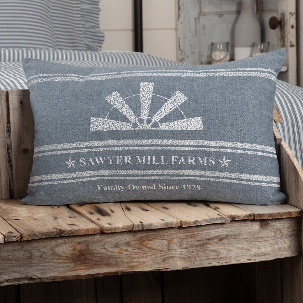 Sawyer Mill Blue Windmill Blade Pillow 14 Quot X 22 Quot By Vhc Brands