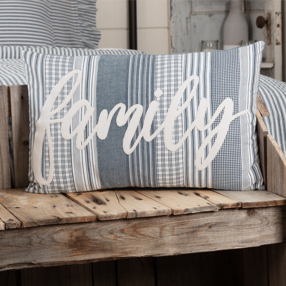 Sawyer Mill Blue Family Pillow 14 Quot X 22 Quot By Vhc Brands