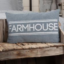 "Sawyer Mill Blue Farmhouse Pillow 14"" x 22"""