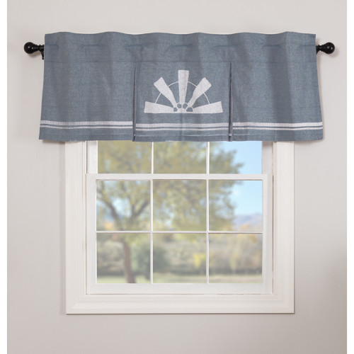 Sawyer Mill Blue Windmill Pleated Valance