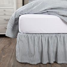 Sawyer Mill Blue Ticking Stripe Bed Skirt