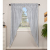 Sawyer Mill Blue Plaid Long Prairie Curtain Set