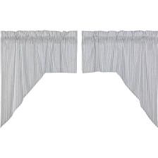 Sawyer Mill Blue Ticking Stripe Swag Set