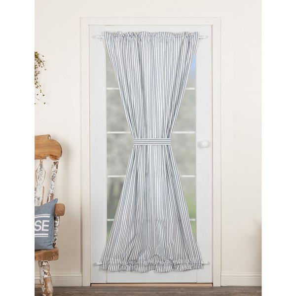 Sawyer Mill Blue Ticking Stripe Door Panel Curtain