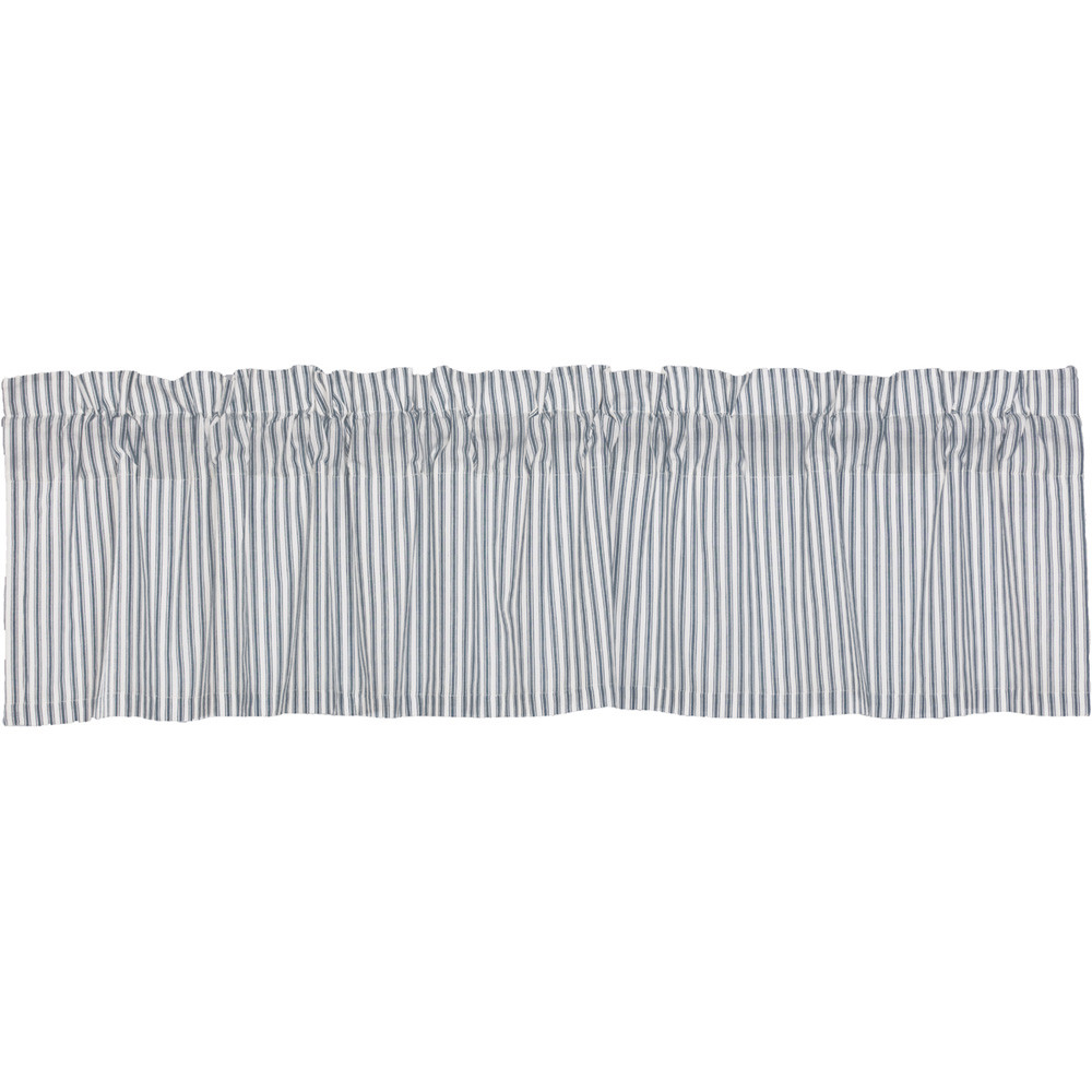 Sawyer Mill Blue Ticking Stripe Valance By Vhc Brands